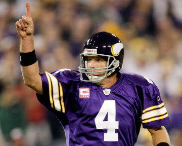 Legendarny Brett Favre wreszcie pokonał Packers dla których grał przez 14 sezonów PHOTO Jamie Squire/Getty Images