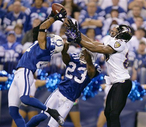 Colts łatwo ograli Ravens. PHOTO @ AP / Michael Conroy